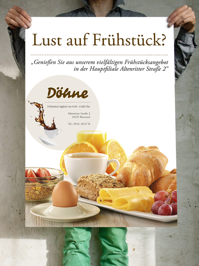 Frühstücks Poster